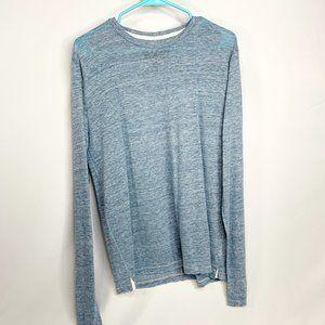 RAG & BONE Blue Owen Linen Long Sleeve T-Shirt